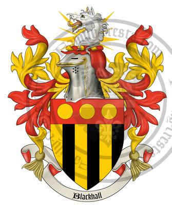 Blackhall coat of arms blackhall surname history