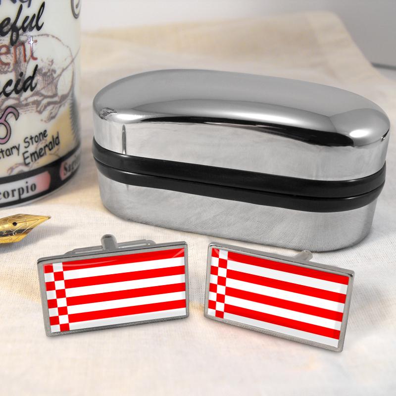 bremen flagge manschettenkn pfe box ebay. Black Bedroom Furniture Sets. Home Design Ideas