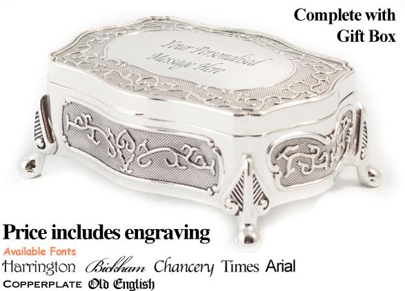 Personalised Engraved Wedding Trinket Jewellery Box On Popscreen