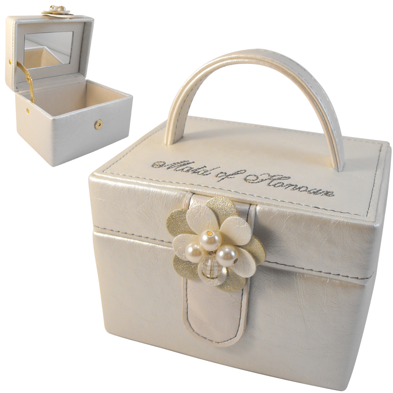 Wedding Gift Box Ebay : Details about Maid of Honour Jewellery Box Wedding Gift