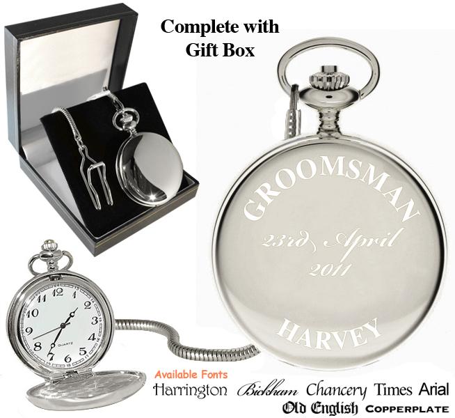 groomsman engraved personalised pocket grooms ebay