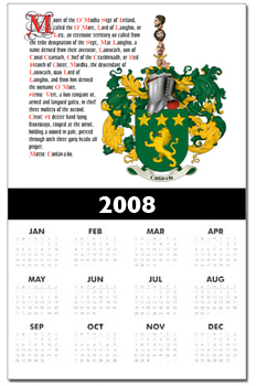 Coat of Arms Calander Print